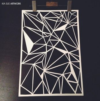 Triangle Papercut by KiaSuee