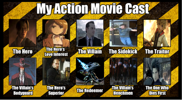 Action Movie Cast Meme by redgriffin22