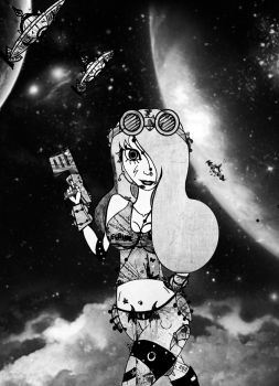 Space Sexy Hunter collab by Karageorges
