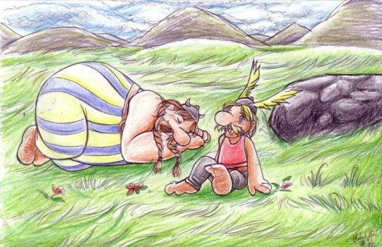 A and O: Asterix and Obelix by Kriska