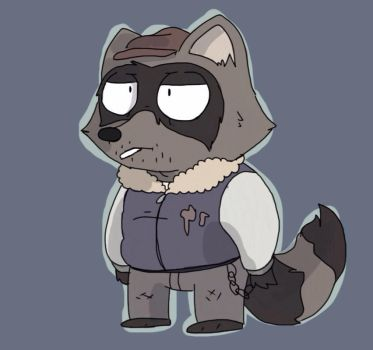 A raccoon by StuffIllustration