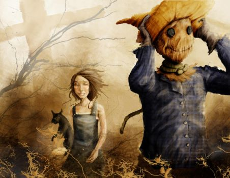 Dorothy and the Scarecrow by samuraislider