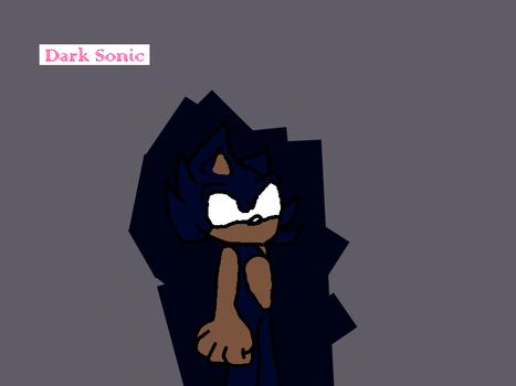 Dark Sonic by Zuri2000Thunder
