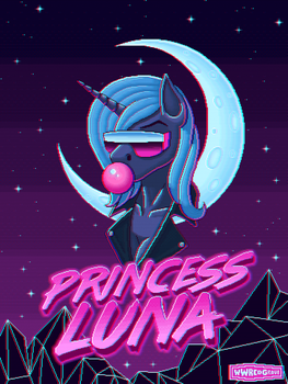 Retrowave Luna - Glitch Version by WWRedGrave