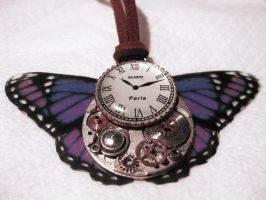 Steampunk Purple Butterfly by xxPRECIOUSMOMENTSxx