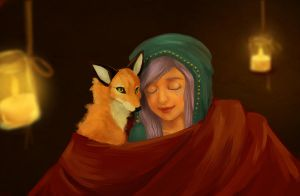 A Mage and Her Fox by EmalieTison