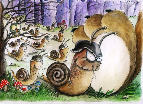 Snail soldiers by natasas