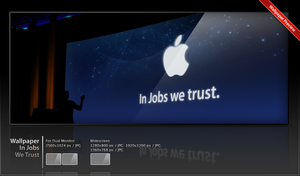 Wallpaper In Jobs We Trust by ncrow