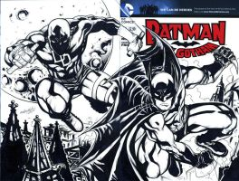BATMAN and DAREDEVIL sketch cover by mdavidct