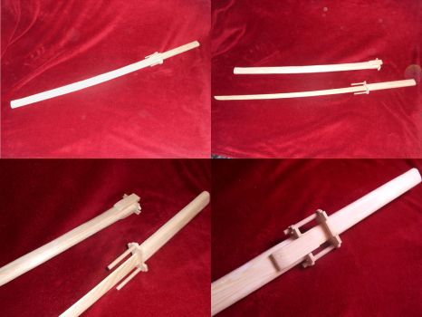 wooden Katana 'Bakuzan' from 'Kill la Kill' by LazarusDeCain