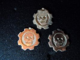 Sterling Silver, Gear Tag from Gears of War by Silverthink
