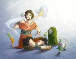 Wan and the Spirits by rice-claire