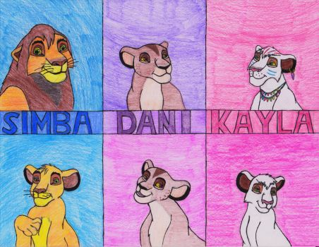 Kovu and Kiara's cubs by AkaylaxVitani