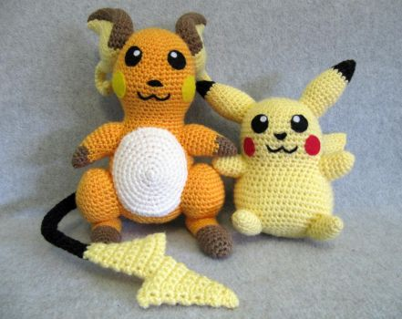 Raichu by NerdyKnitterDesigns