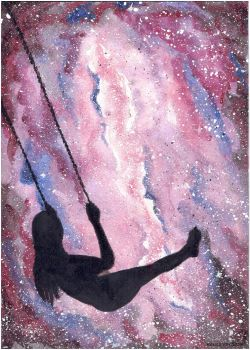 Swing in galaxy by Carolineys