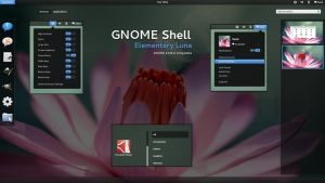 GNOME Shell - Elementary Luna by half-left