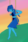 Lapis on a swing by ScarlettMinx