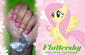 Fluttershy Cutie Mark Nail Design by BSWPrecious