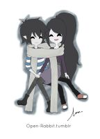 Marshall and Marcy by Chalovesapples