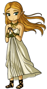 Breath of the Wild: Princess In White by Icy-Snowflakes
