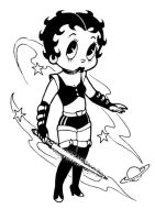 Betty Boop In Outer Space by HMontes