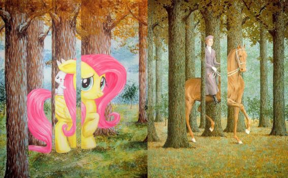 Pony Riding Side by Side by recycledrapunzel