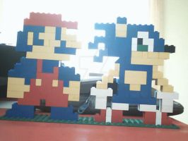 lego Mario and Sonic by Angus-Nitro