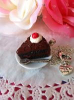 Black Forest Portal Cake Necklace by lessthan3chrissy