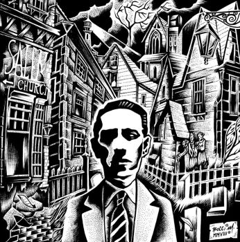 Lovecraft in Salem by FatherStone