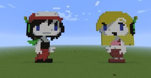 Minecraft Pixel Art Series - Quote'n'Curly Brace 2 by LoneSilverwind