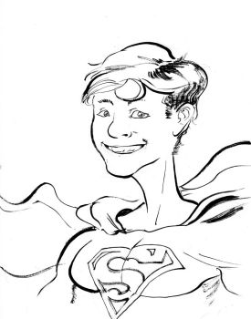 CARE-icatures: Vincent as Superman by BalanComics
