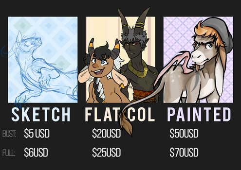COMMISSIONS - MAY '17 - 5 SLOTS OPEN by Heliocathus