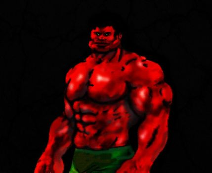 Red Hulk2 by callmetrouble