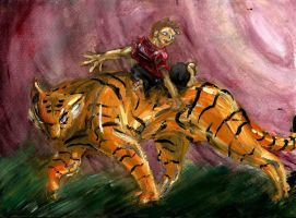 Calvin + Hobbes -traditional- by dragonnack