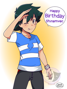 Happy Birthday Shinamvec! by JirachiAtSundown