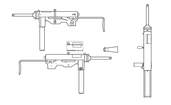 M3A2 Grease Gun for Fallout: Equestria by SgtMuffin