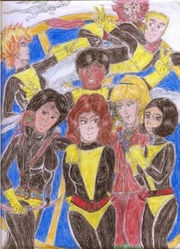 The original New Mutants (The not so hatefull 8!) by Narked