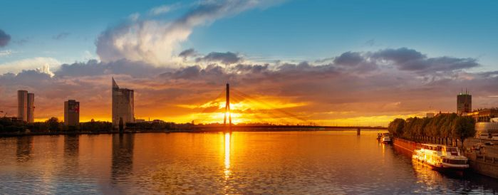Riga sunset by AlexGutkin