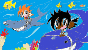 Aaron and Zack: Undersea  concept in color by Armonsterz