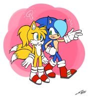Female Sonic and Tails by SonicDnB
