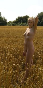 Nude in the wheat field 15 by martinrobinson