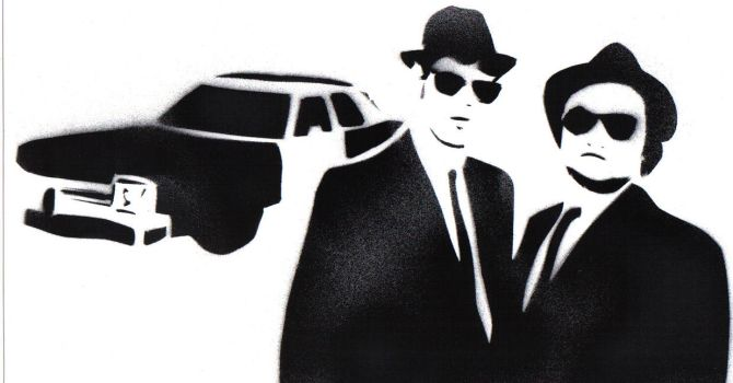 Jake and Elwood by soggynoggin