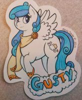 Gusty SOLD Pony Badge by Sparkle-And-Sunshine