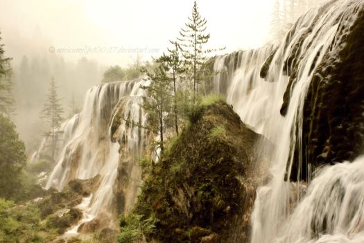 Waterfall in Sepia by musicismylife10027