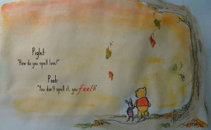 {How do you spell 'love', Pooh?} by TheWorldSpinsMadlyOn