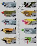 P-40 personal nose arts 3 by Alan-the-leopard