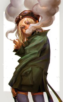 Smoking girl from Owl Squad by huanGH64