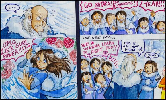 Revolutionary Girl Katara by Isaia