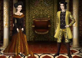 King Edward IV and Queen Elizabeth Woodville by MoonMaiden37
