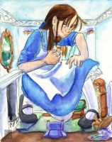 Alice in Rabbit's House by lissa-quon